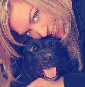 Colleen Paige and her dog